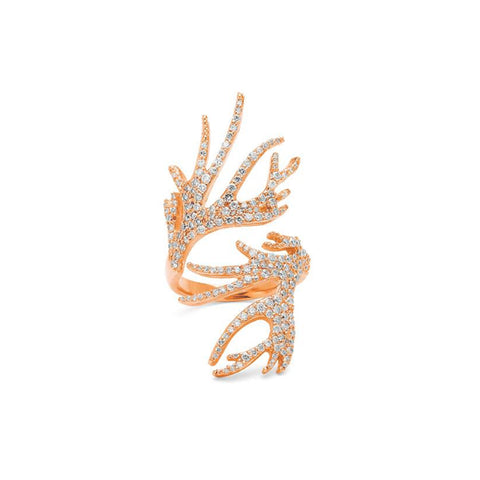 """Versaille Horns 18K Rose Gold"" Ring"