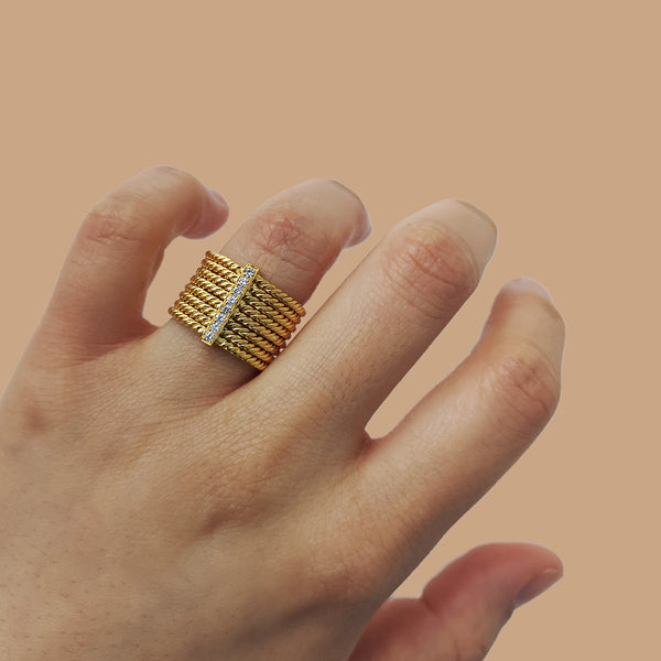 """Reef Ring"" 18K Siam Yellow Gold"