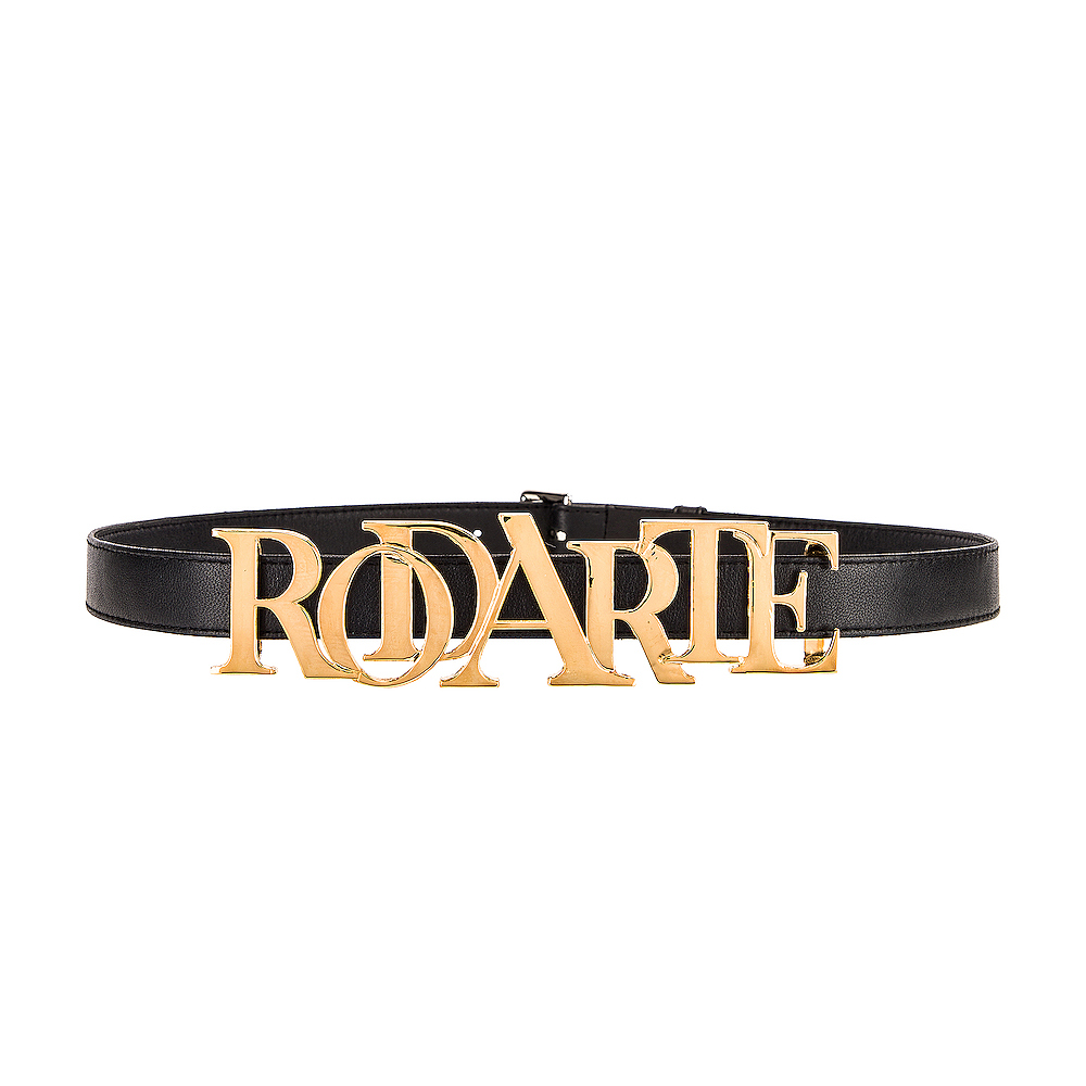 """RODARTE"" GOLD & BLACK LEATHER BELT"