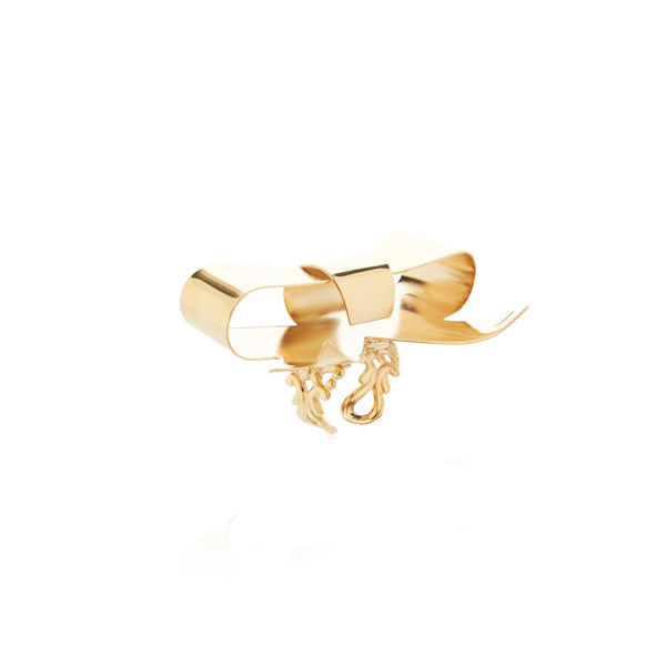 """Gold Small Bow"" Ring"