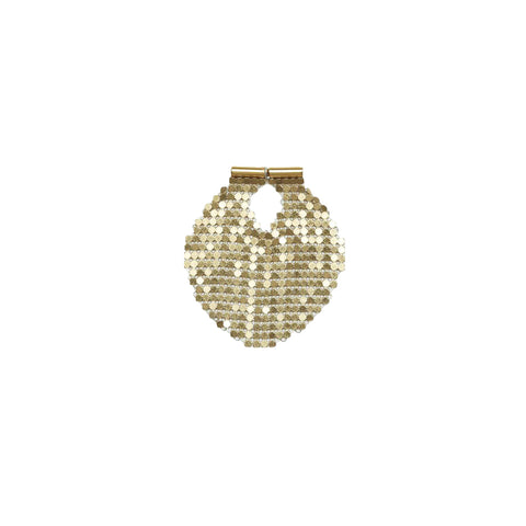 """Round Gold Stretch Earring"""