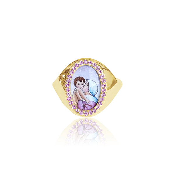 """SANTOS SIGNET LADY OF GOOD ADVICE"" Ring"