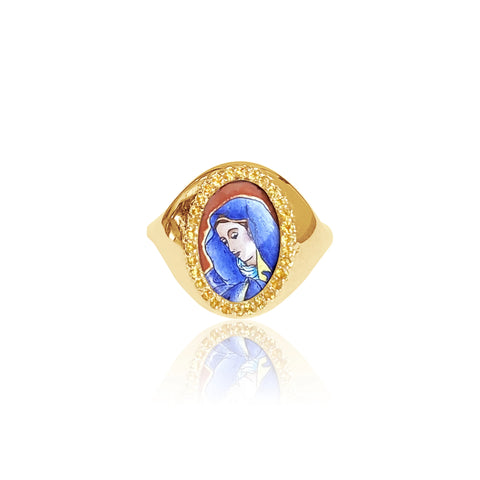 """SANTOS SIGNET SORROWFUL HOLLY"" Ring"