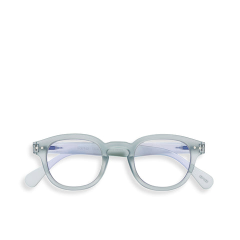 """C"" Frosted Blue SCREEN Glasses"