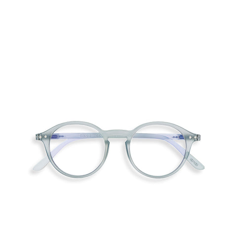 """D"" Frosted Blue SCREEN Glasses"