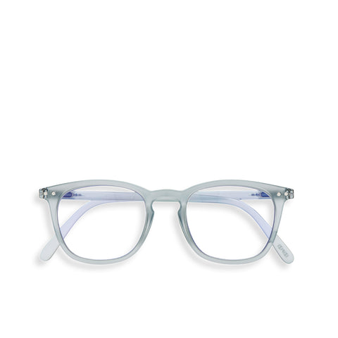 """E"" Frosted Blue SCREEN Glasses"