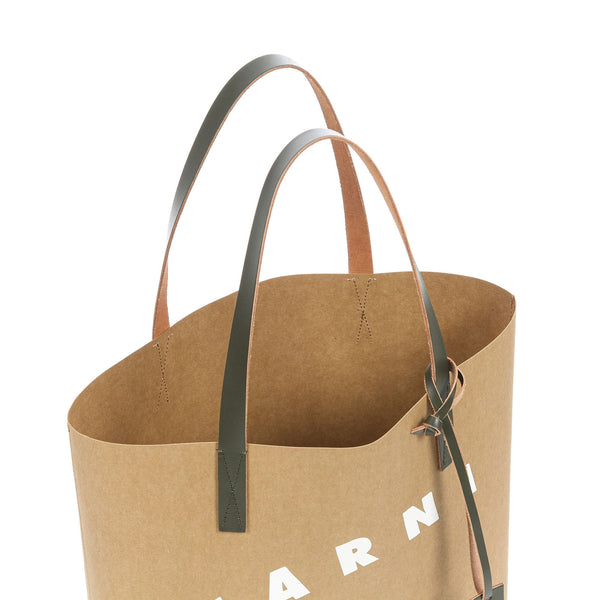 """CELLULOSE SHOPPING BAG"" GREY, WHITE AND GREEN"