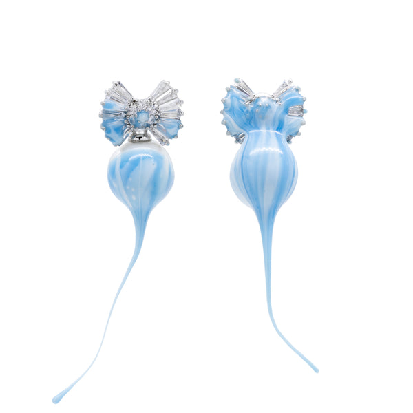 """Blue Pearl Earrings"" Drop"