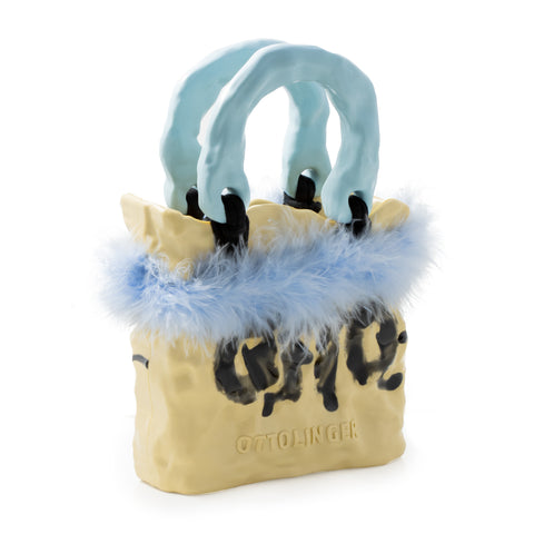 """Blue Nature Signature Ceramic"" Bag"