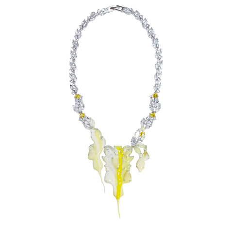 """Yellow Diamond"" Drop Necklace"