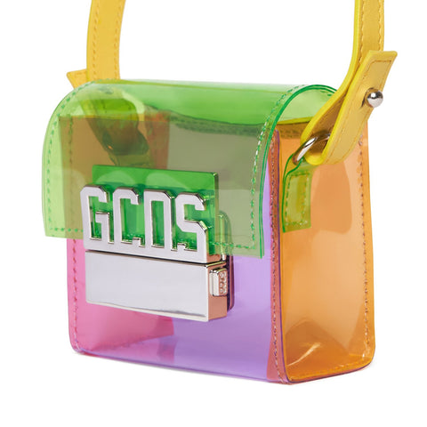 """GCDS"" Transparent Cube Bag"