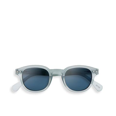 """C"" Frosted Blue Sunglasses"