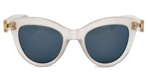 """Discov"" White Frost Sunglasses - ARCHIVES"