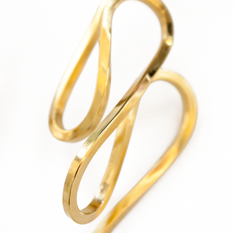 """Serpentine Earrings"" Gold"