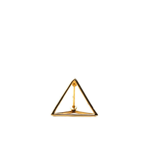 """Triangle 10mm"" 18K Yellow Gold Earring"