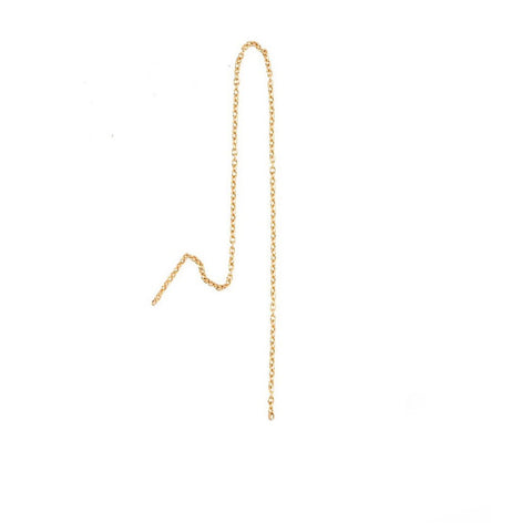 """Chain 200mm"" 18K Yellow Gold Earrings"