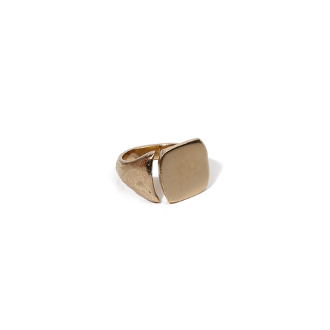 SIGNET RING WITH FINGERPRINTS