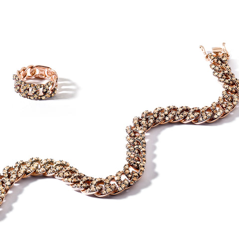 """Slave Rose Gold and Brown Diamonds"" Bracelet"