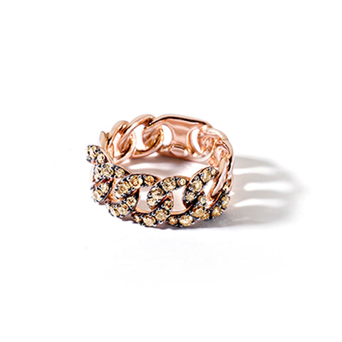 """Slave Rose Gold and Brown Diamonds"" Ring"