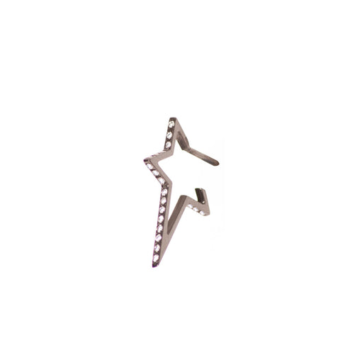 """Small Star"" 18K Black Gold Earring - ARCHIVES"