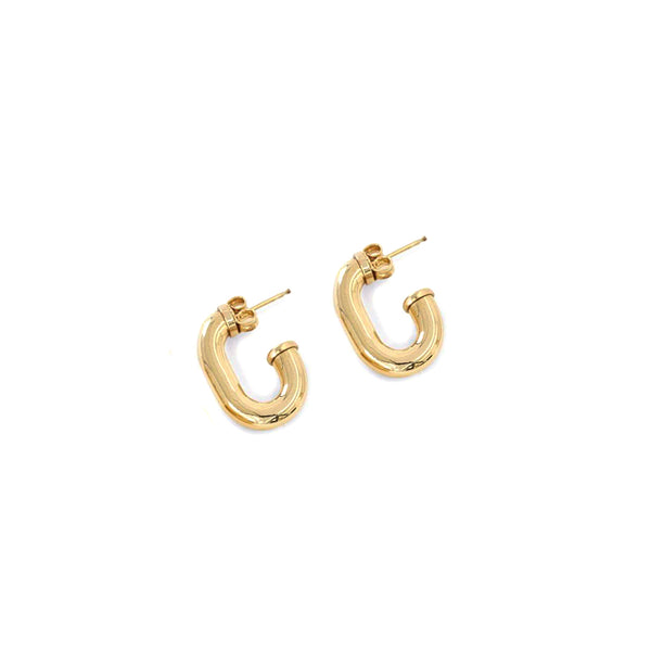 """Small Chain Hoop"" Earrings"