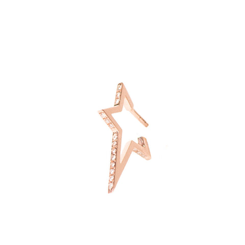 """Small Star"" 18K Rose Gold Earring - ARCHIVES"