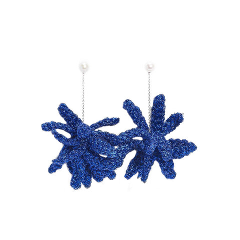 """Spritz Earrings"" Royal Blue"