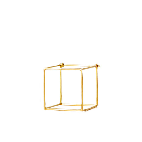 """Square 20mm"" 18K Yellow Gold Earring"