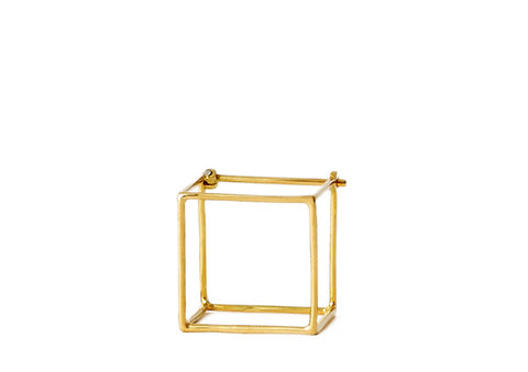 """Square 15mm"" 18K Yellow Gold Earring - ARCHIVES - 1"