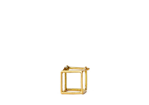 """Square  7mm"" 18K Yellow Gold Earring - ARCHIVES - 1"