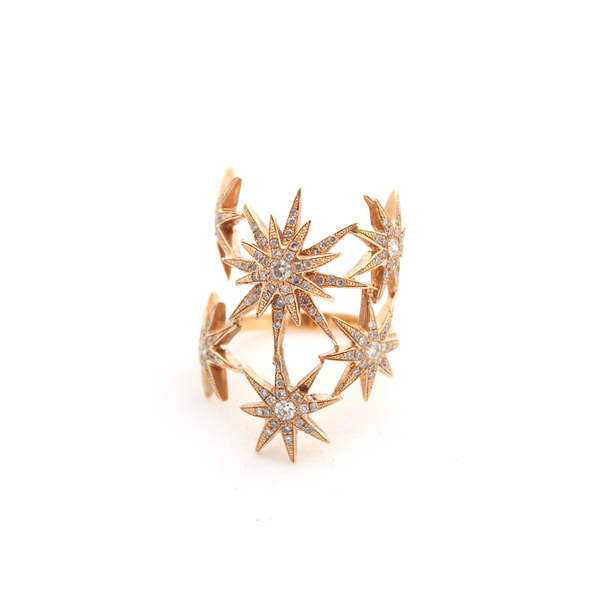 """Stars"" 18k Rose Gold Ring"