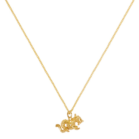 """TINY DRAGON"" 18K SIAM YELLOW GOLD NECKLACE"