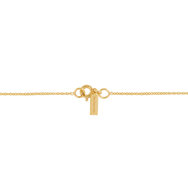 """TINY OX"" 18K SIAM YELLOW GOLD NECKLACE"