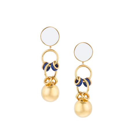 """Tribale Dangling Ring"" Earrings"