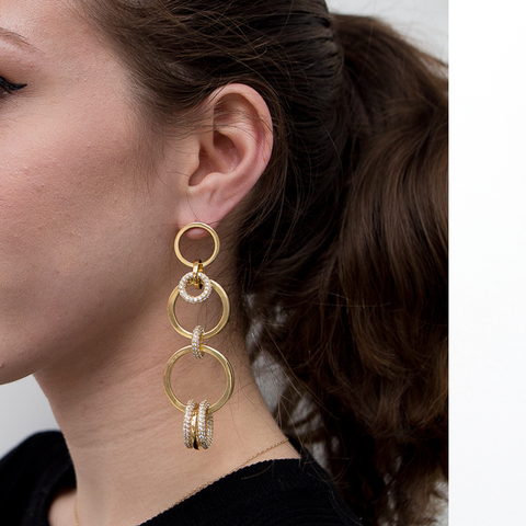 """TRIBALE STATEMENT RING"" MONO EARRING"