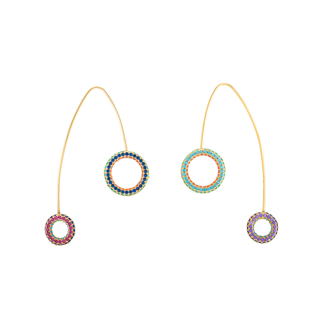 """Tribale Hoop"" Earrings"