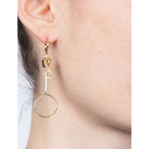 """BUBBLE ZIP"" MONO EARRING"