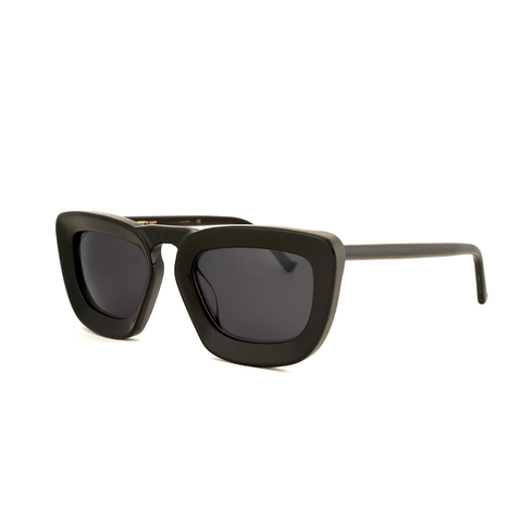 """Urlike"" Brushed Black Sunglasses"