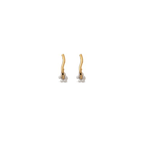 """Fall I"" Gold Vermeil and Pearl Earrings"