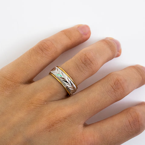 """18K Yellow Gold Plated Band"" Ring"