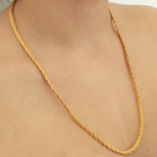 """22k Yellow Gold Flat Twist Chain"" Necklace"
