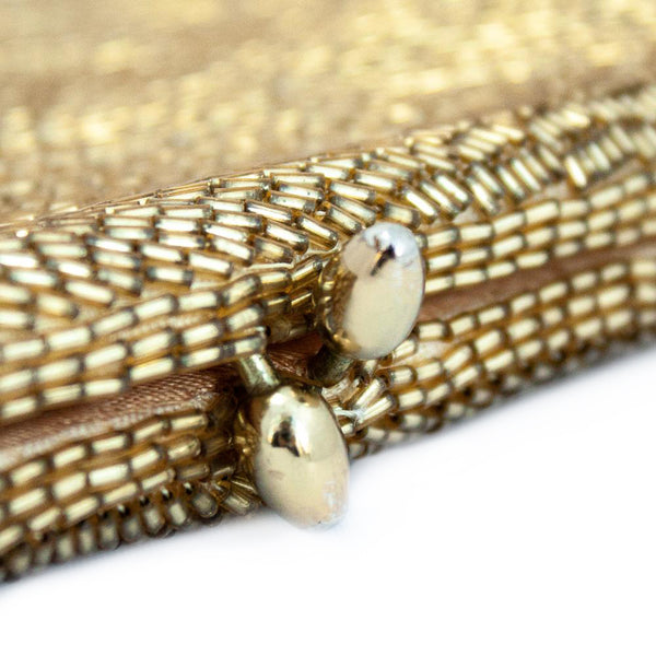 "Vintage ""Gold Beaded"" Clutch"