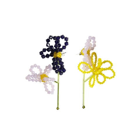 """Viola Tricolor"" Earrings"
