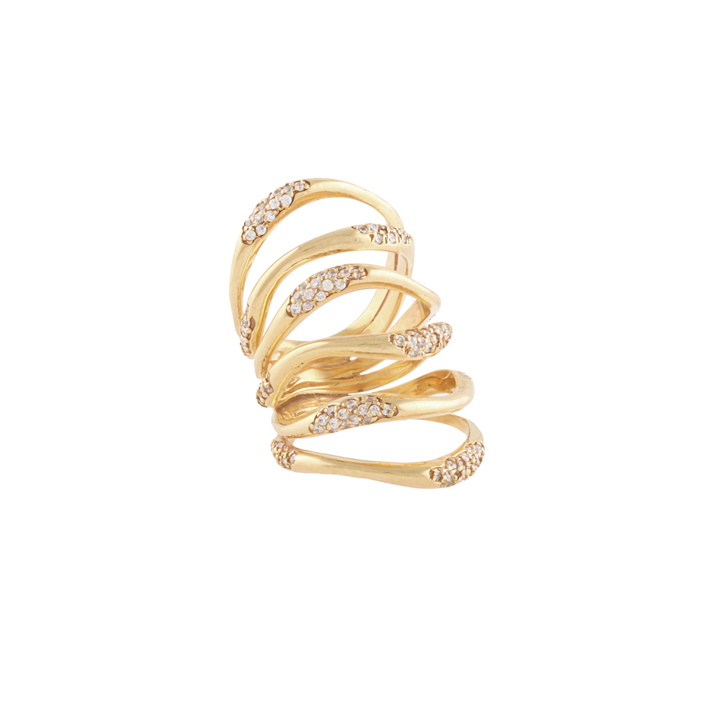 """MULTI WAVES LONG"" RING"