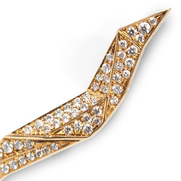 """Carioca Yellow Gold White Diamonds"" Mono Earring"