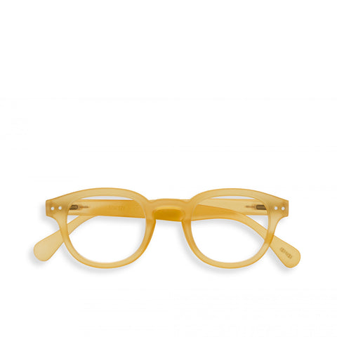 """C"" Yellow Honey Reading Glasses"