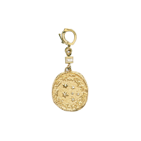"""ZODIAC SMALL DIAMOND WITH SINGLE BAGUETTE"" CHARM"