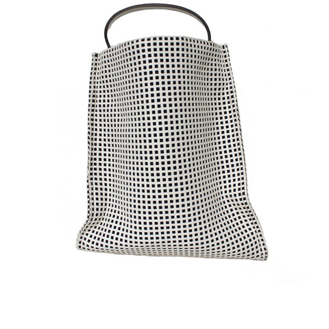 """White Perforated"" Big Square Bag"