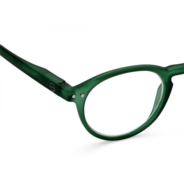 """A"" Green Crystal Reading Glasses"