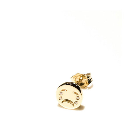 """Diamond Tears Stud"" Mono Earring"